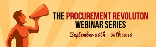Registration Now Open: The Procurement Revolution Live Sessions