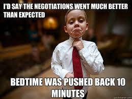 Negotiation is child's play - or maybe not